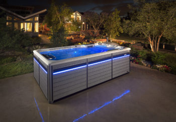 This is a commercial photograph taken by Skip O'Donnell off ODonnell photograf of an Endless Pool for Watkins Spa.